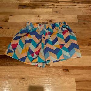 Everly geometric shorts